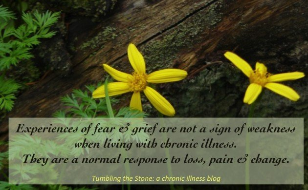Experiences of fear and grief when living with a chronic illness are not a sign of failure or weakness. They are a normal response to loss, pain and change.