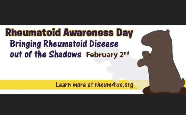 Rheumatoid Awareness Day is on February 2nd: It's about education and bringing RA / RD out of the Shadows. #RA #RD #rheum4us.org