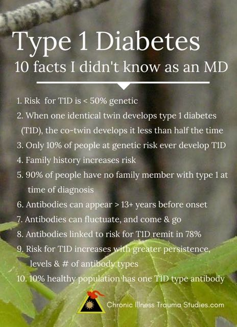 10 facts about type 1 diabetes (T1D) I never knew as a physician, including gene environment interactions, antibody patterns, low family history and more