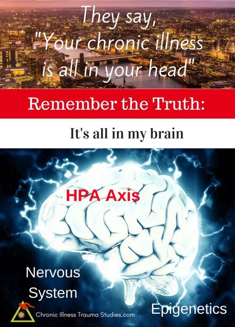 They say chronic illness is all in your head. Remember the truth: it's all in my brain