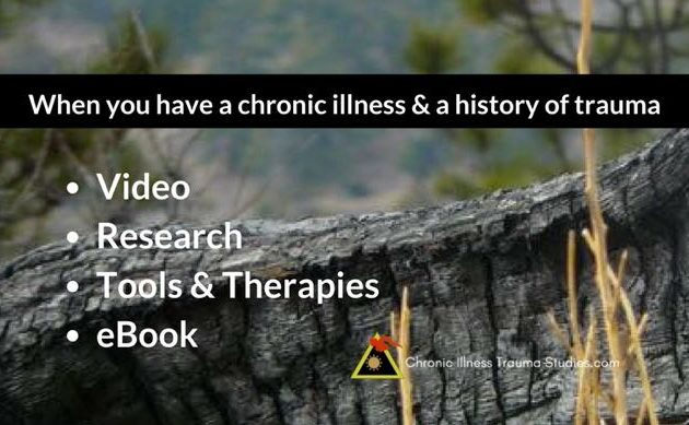 When you have a chronic illness and a history of trauma it can be hard to find research that supports what you know from experience, which is that your chronic illness is real and not psychological. Here's the research.