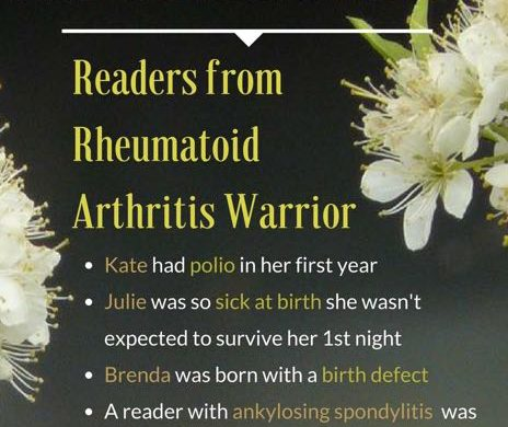 Can we explain early life events in RA? A look at reader stories from rheumatoid arthritis warrior (RAW)